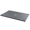 Imperia 1200 x 800mm Graphite Slate Effect Rectangular Tray + Chrome Waste profile small image view 1