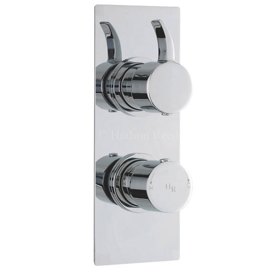 Hudson Reed Grace Twin Concealed Thermostatic Shower Valve - Square Plate - GRA3210 Large Image
