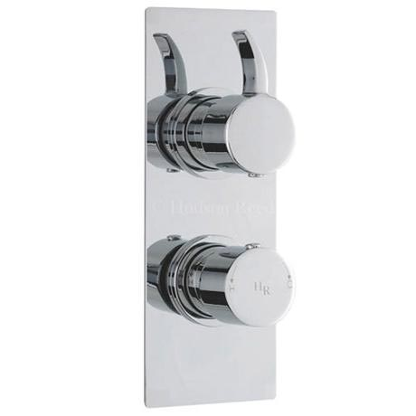 Hudson Reed Grace Twin Concealed Thermostatic Shower Valve - Square Plate - GRA3210