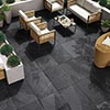 Grado Black Outdoor Stone Effect Floor Tile - 600 x 900mm profile small image view 1