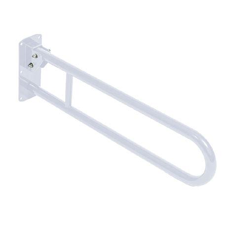 Bristan - 800mm Hinged Grab Rail - White Aluminium - GRAB-H-W