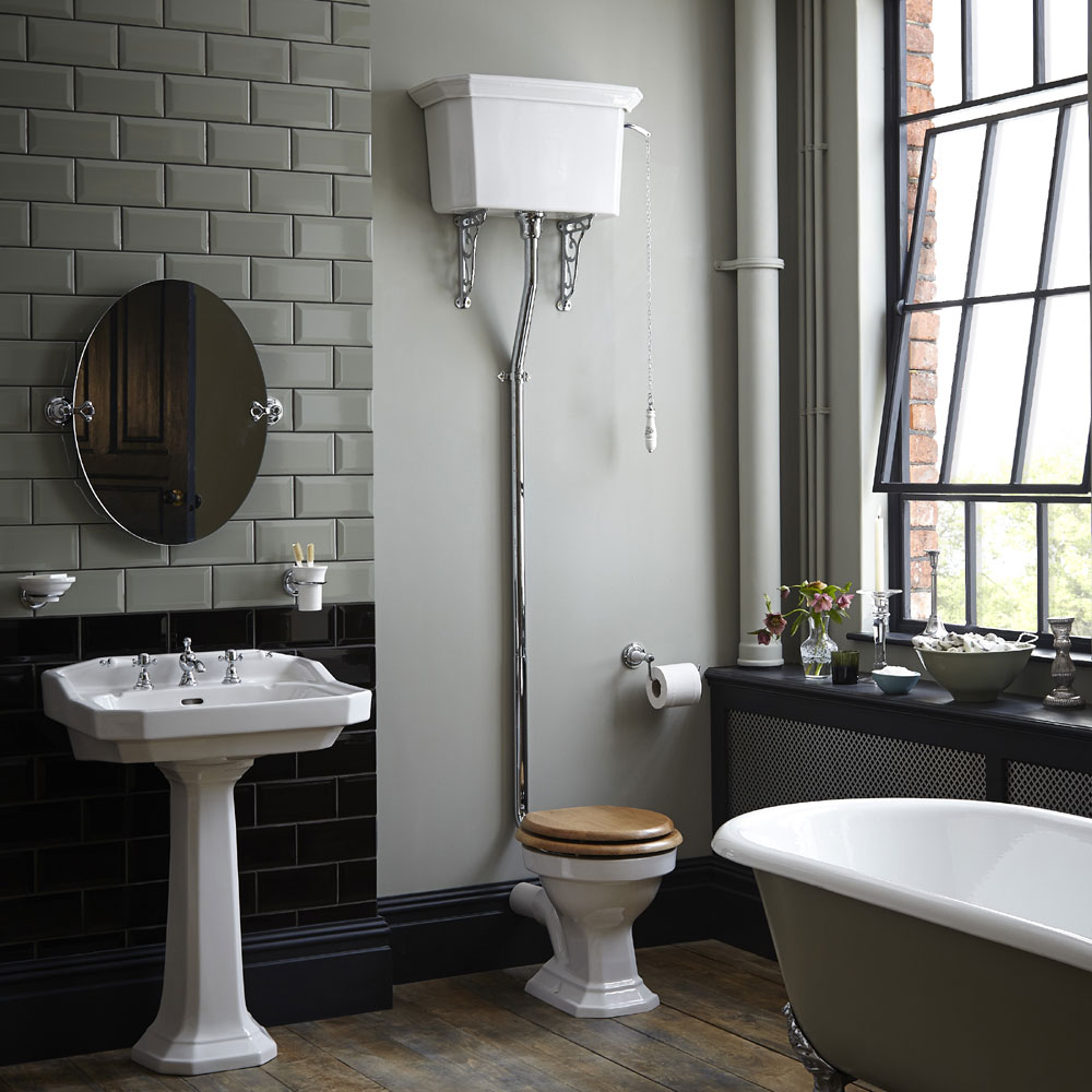 Heritage - Granley High-level WC & Chrome Flush Pack profile large image view 2
