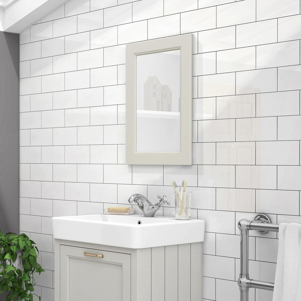 The Chatsworth Grey Bathroom Mirror - 600 x 400mm