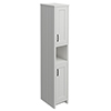 Chatsworth Traditional Grey Tall Cabinet with Matt Black Handles profile small image view 1