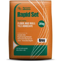 Tilemaster Adhesives - 20kg Rapid Set Floor & Wall Tile Adhesive - Grey Medium Image