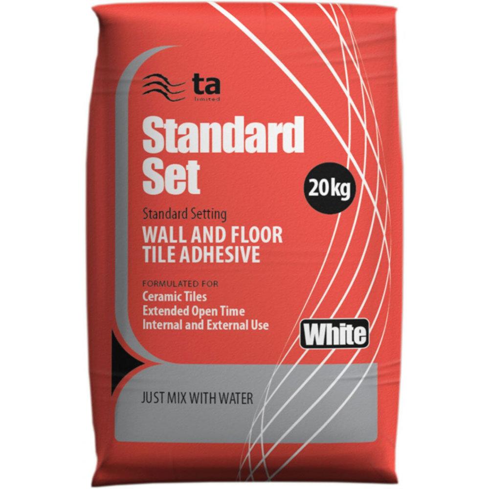Tilemaster Adhesives - 20kg Standard Set Floor & Wall Tile Adhesive - Grey Large Image