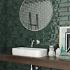 Granley Rustic Green Gloss Wall Tiles 70 x 280mm Small Image