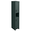Chatsworth Traditional Green Tall Cabinet with Matt Black Handles profile small image view 1