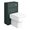 Chatsworth 500mm Traditional Green Toilet Unit Only profile small image view 1