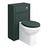 Chatsworth Traditional 500mm Green Toilet Unit + Pan profile small image view 1