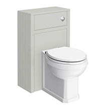 Chatsworth Traditional Grey Toilet Unit + Pan Medium Image