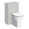 Chatsworth Traditional Grey Toilet Unit + Pan profile small image view 1