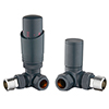 Apollo Grey Corner Thermostatic Radiator Valves profile small image view 1