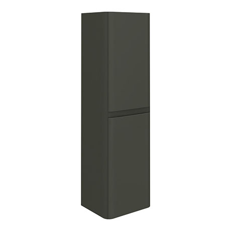 Moselle 1200mm Gloss Grey Wall Hung 2 Door Tall Storage Unit
