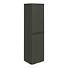Moselle 1200mm Gloss Grey Wall Hung 2 Door Tall Storage Unit Small Image
