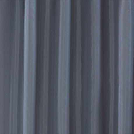 Grey W1800 x H2000mm Polyester Shower Curtain