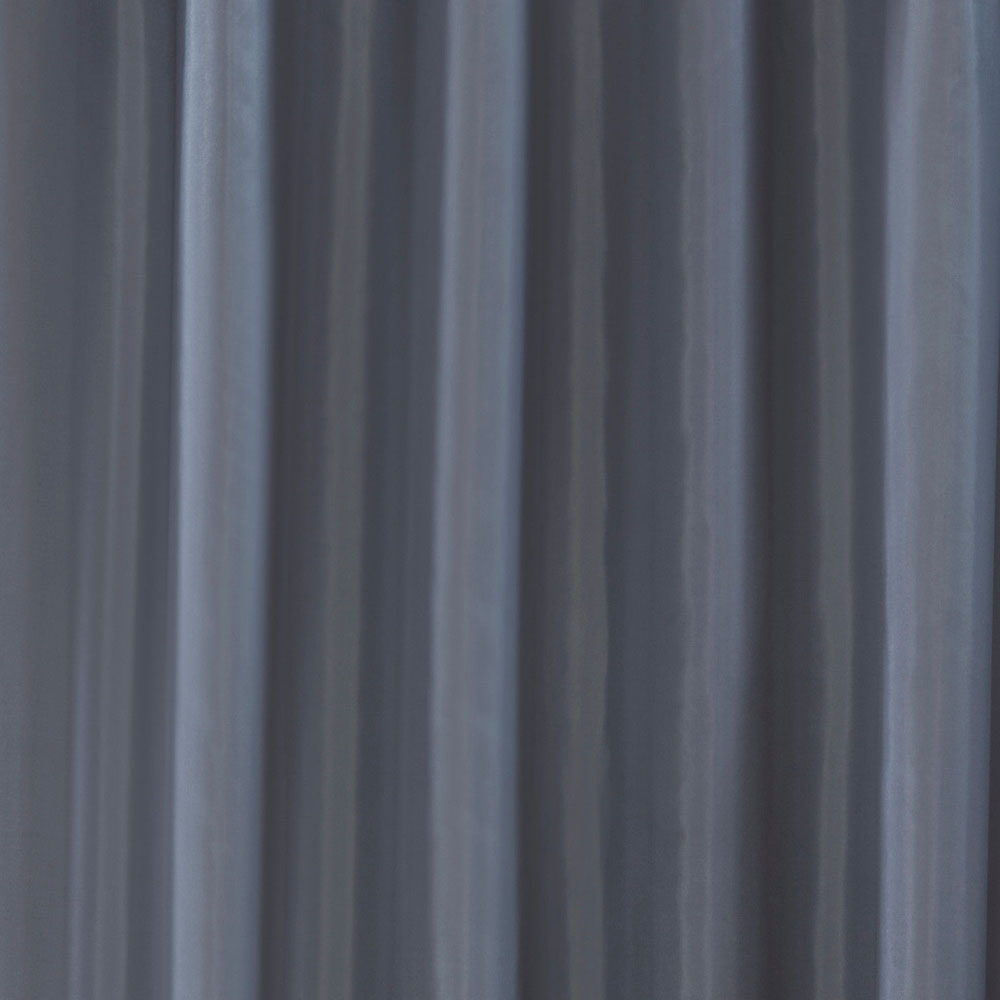 Grey W1800 x H1800mm Polyester Shower Curtain