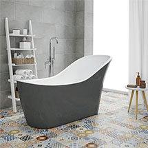 Vienna Grey 1730 Modern Slipper Free Standing Bath Medium Image