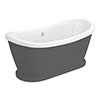 Chatsworth Grey 1770 Double Ended Slipper Roll Top Bath profile small image view 1
