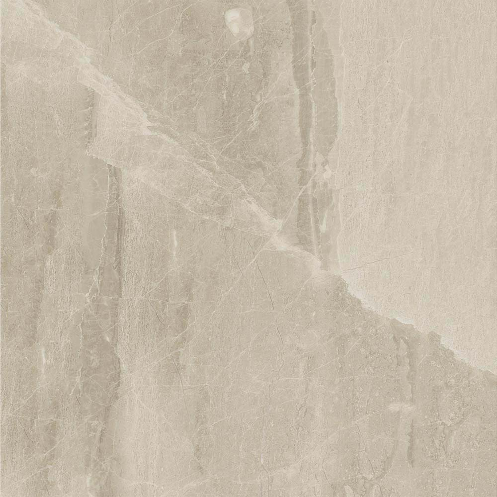 Gio Beige Marble Effect Porcelain Floor Tiles - 45 x 45cm  Profile Large Image