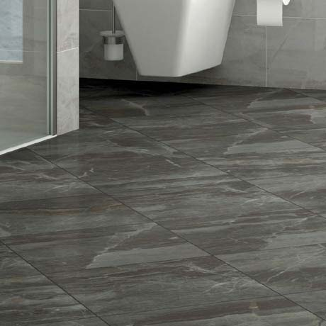 Gio Grey Marble Effect Porcelain Floor Tiles 45 X 45cm