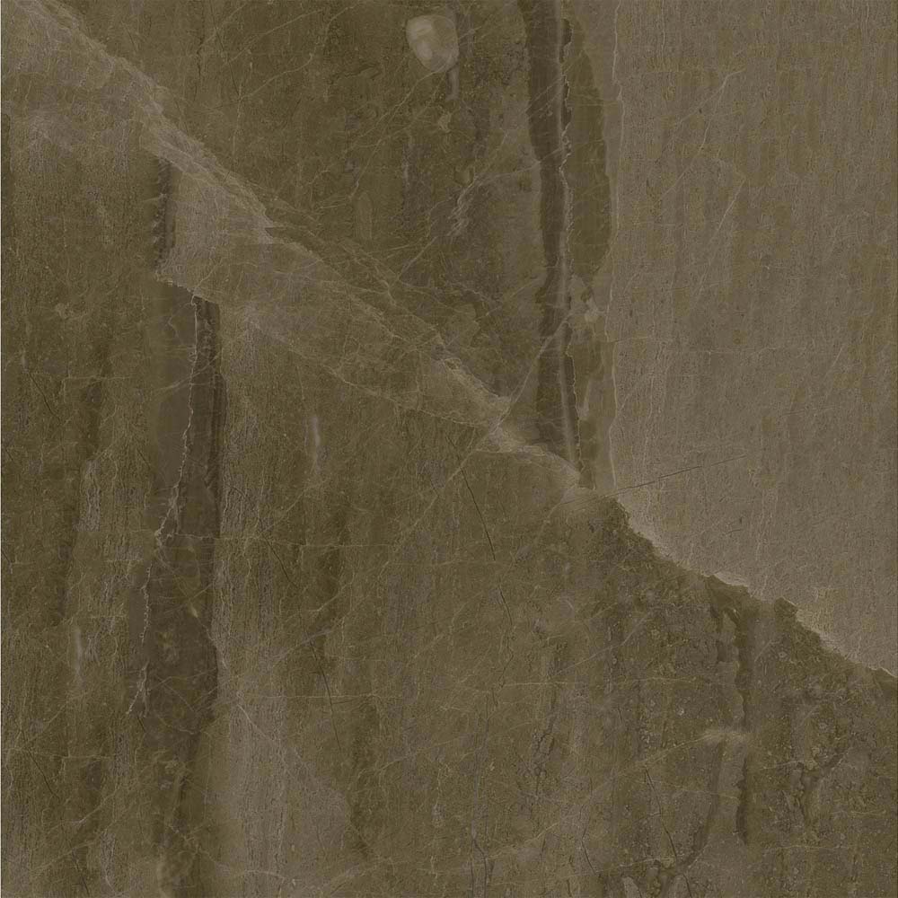 Gio Brown Marble Effect Porcelain Floor Tiles - 45 x 45cm  Standard Large Image