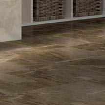 Gio Brown Marble Effect Porcelain Floor Tiles - 45 x 45cm Medium Image