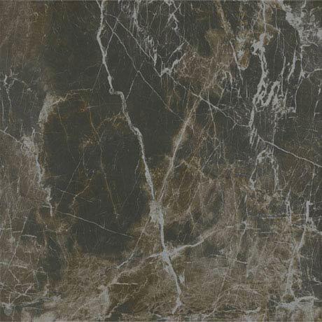 Pavia Mocha Gloss Porcelain Floor Tiles - 60 x 60cm