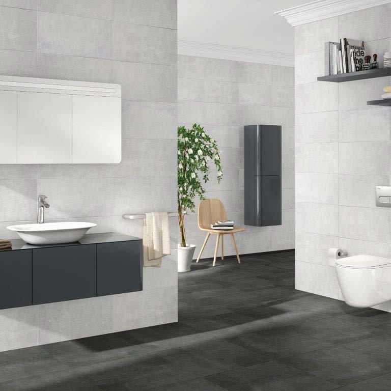 Eclipse White Wall Tiles - 30 x 60cm  Profile Large Image
