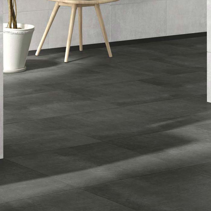 Eclipse Anthracite Porcelain Floor Tiles - 60 x 60cm Large Image
