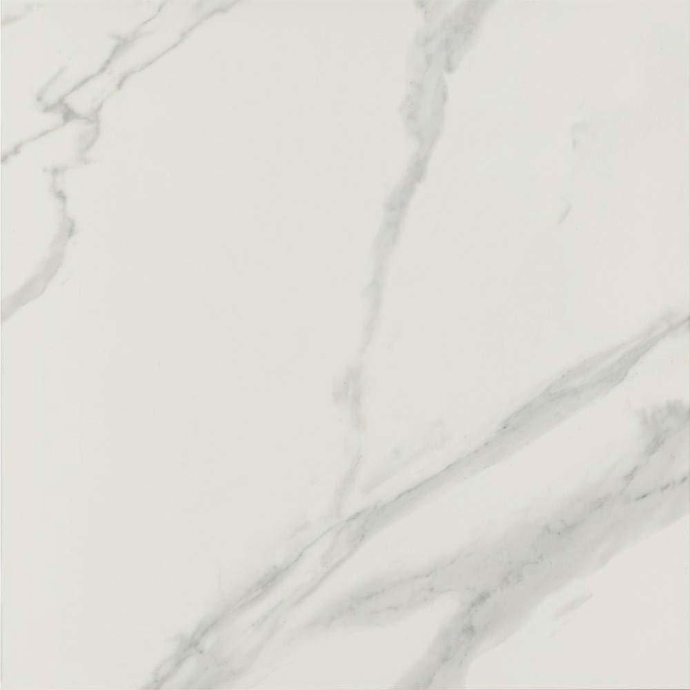 Pavia Grey Gloss Porcelain Floor Tiles - 60 x 60cm  In Bathroom Large Image