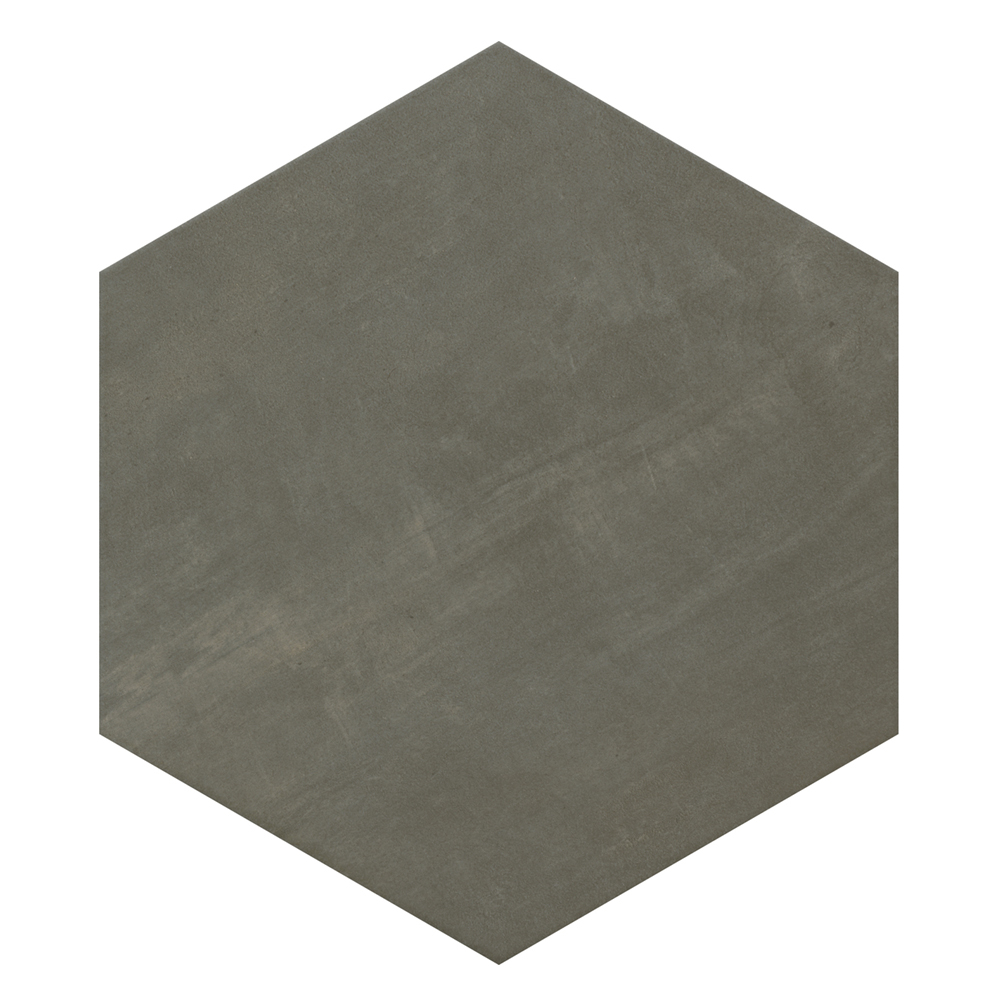 Vista Hexagon Grey Wall Tiles - 30 x 38cm Large Image