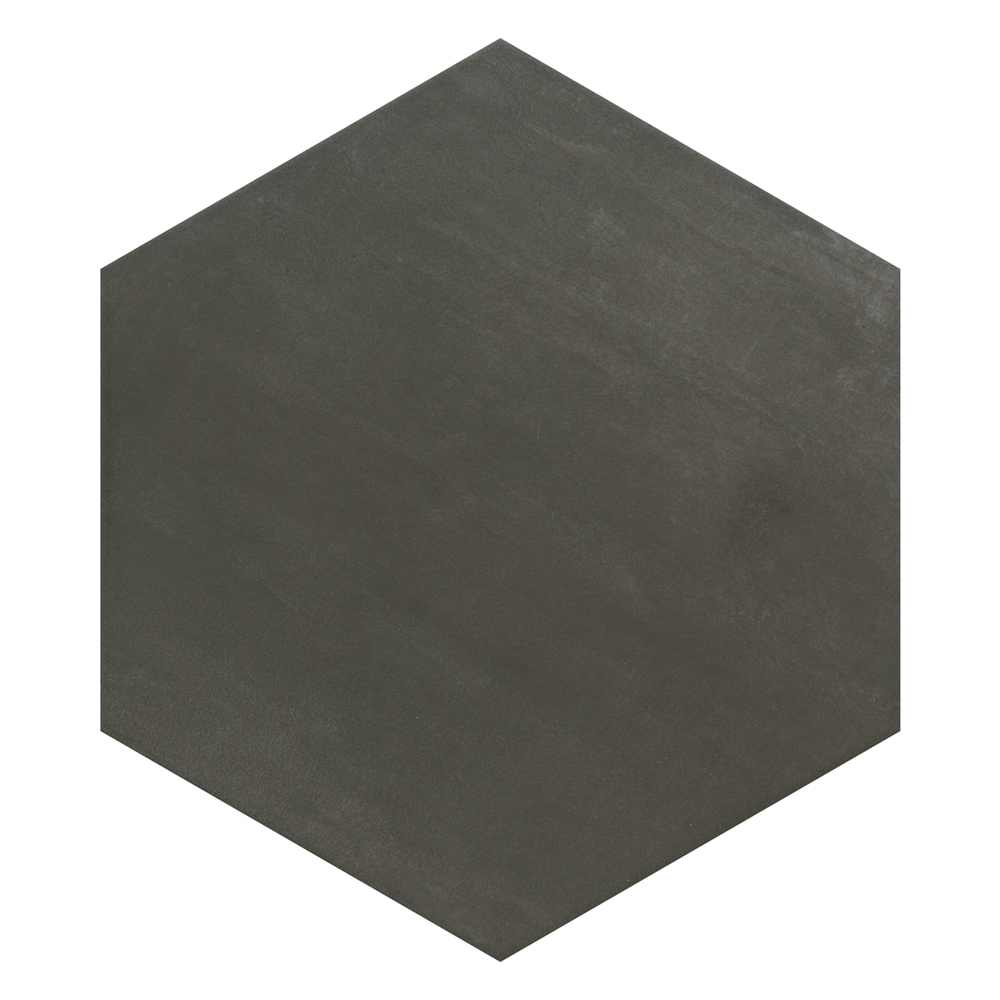 Vista Hexagon Dark Grey Wall Tiles - 30 x 38cm  In Bathroom Large Image