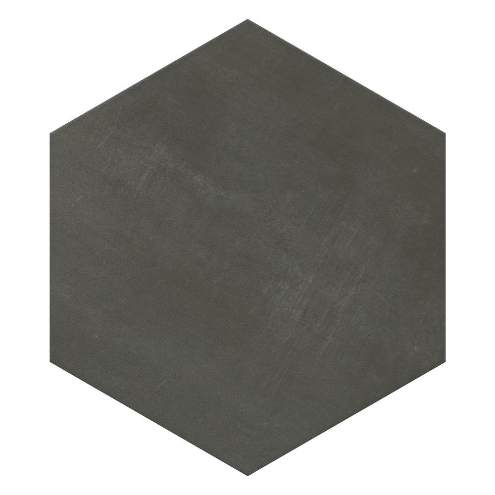 Vista Hexagon Dark Grey Wall Tiles - 30 x 38cm  additional Large Image