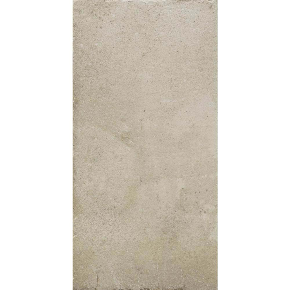 Sienna Cream Textured Stone Effect Matt Floor Tiles - 30 x 60cm  In Bathroom Large Image