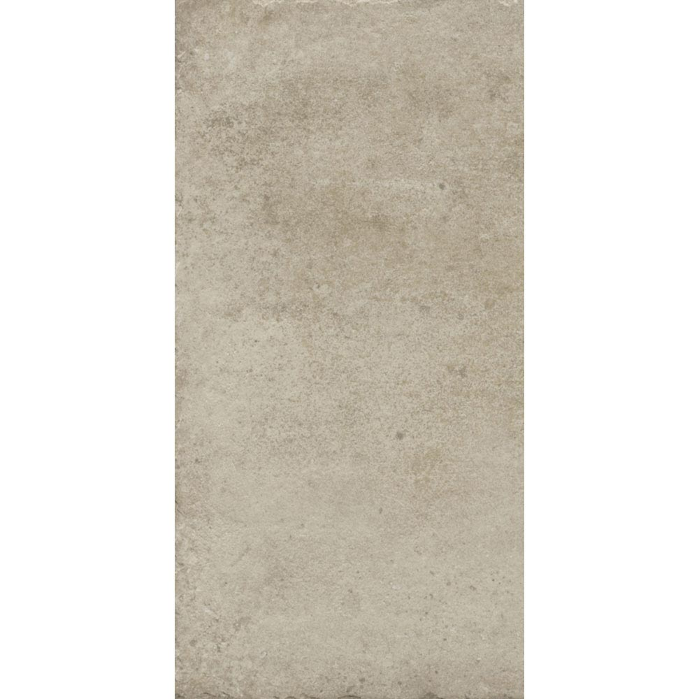 Sienna Cream Textured Stone Effect Matt Floor Tiles - 30 x 60cm Large Image