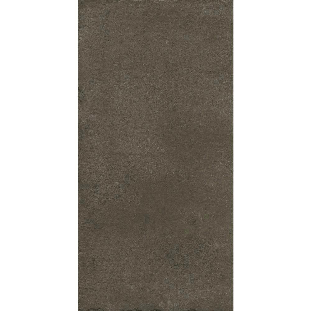 Sienna Mocha Textured Stone Effect Matt Floor Tiles - 30 x 60cm  In Bathroom Large Image