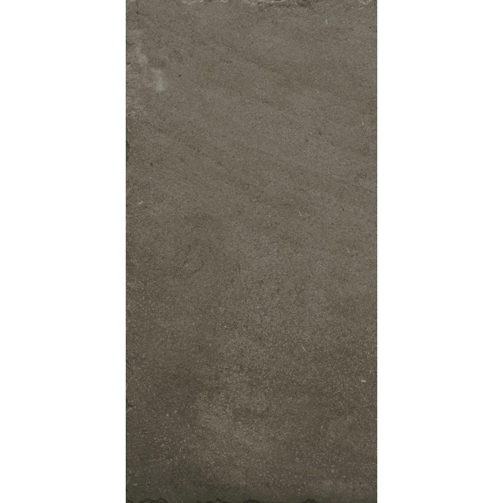 Sienna Mocha Textured Stone Effect Matt Floor Tiles - 30 x 60cm Large Image
