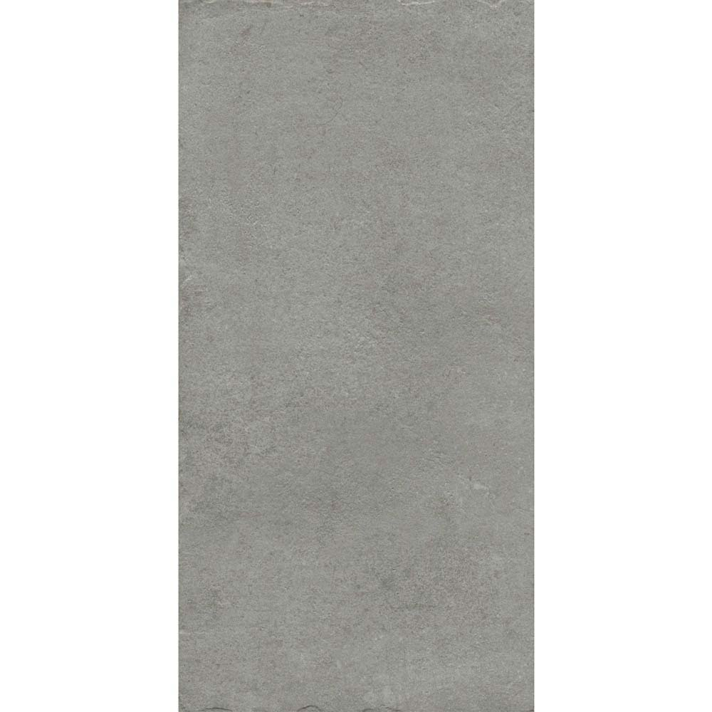 Sienna Grey Textured Stone Effect Matt Floor Tiles - 30 x 60cm  Feature Large Image