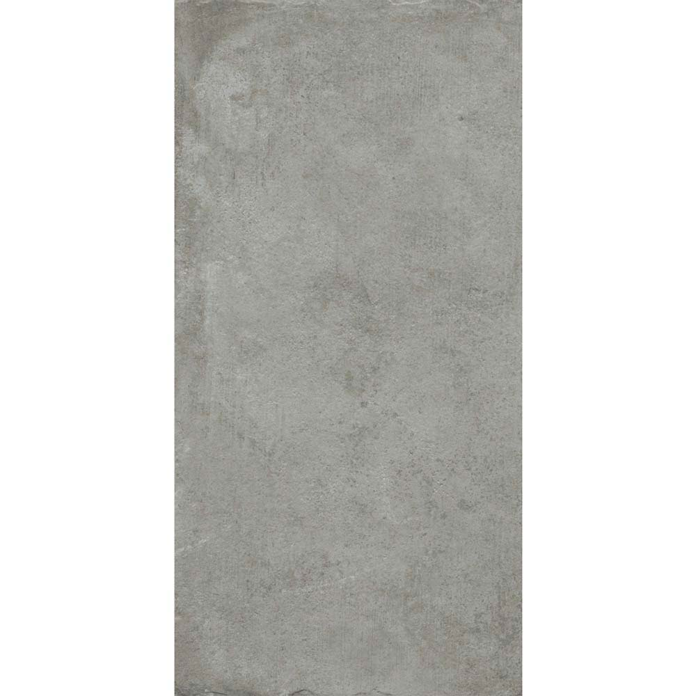 Sienna Grey Textured Stone Effect Matt Floor Tiles - 30 x 60cm  Standard Large Image
