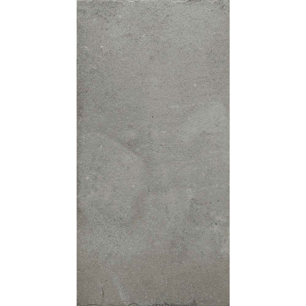 Sienna Grey Textured Stone Effect Matt Floor Tiles - 30 x 60cm  In Bathroom Large Image