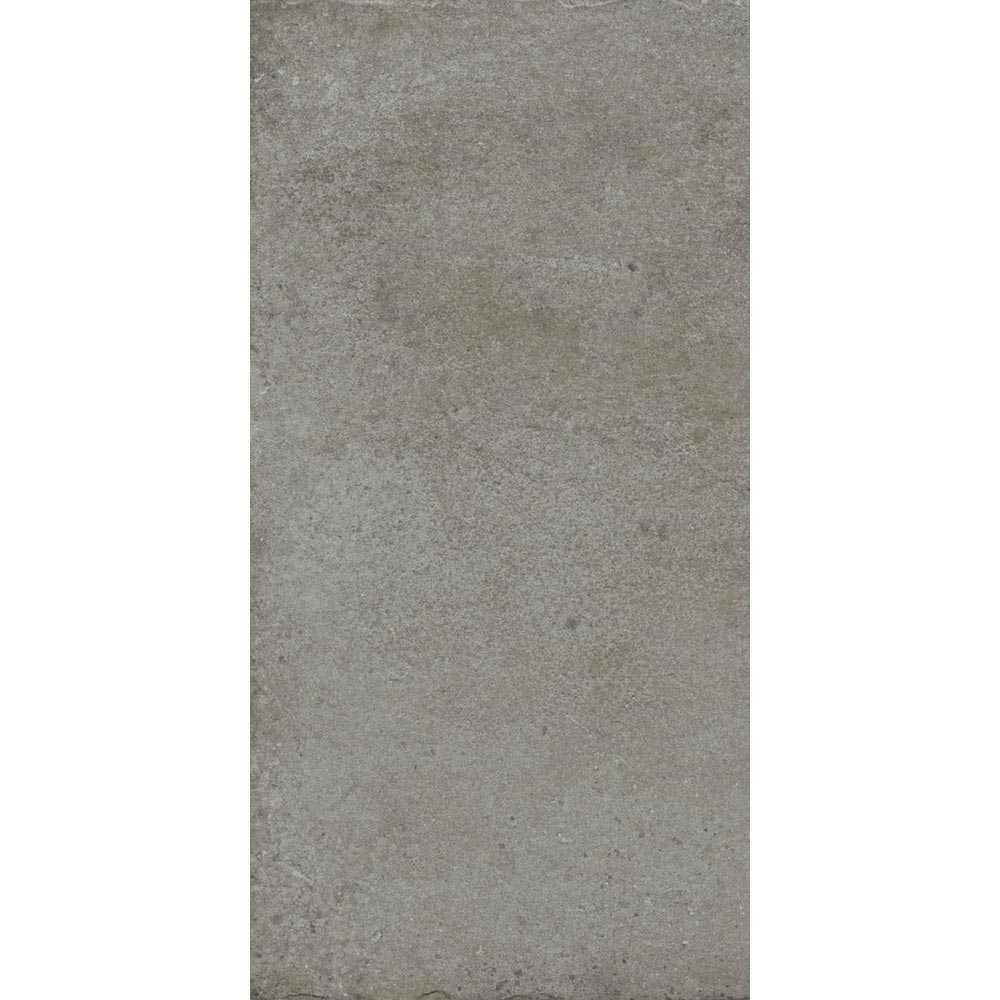 Sienna Grey Textured Stone Effect Matt Floor Tiles - 30 x 60cm Large Image