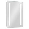 Brooklyn 390 x 500mm Battery Operated Illuminated LED Mirror profile small image view 1