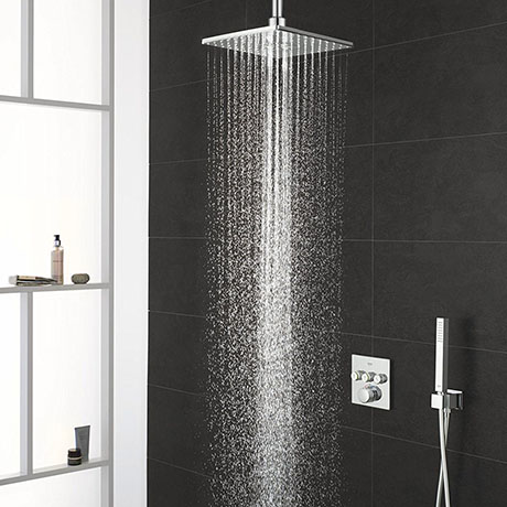 Grohe Grohtherm Smartcontrol Perfect Shower With Ceiling Mounted 310 Cube Shower Head