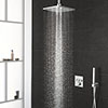 Grohe Grohtherm Smartcontrol Perfect Shower With Ceiling Mounted 310 Cube Shower Head profile small image view 1