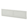 Chatsworth Grey 1500 Traditional Front Bath Panel profile small image view 1