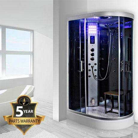 Insignia - 1200mm Steam Shower Cabin with Mirrored Backwalls - GT5000M