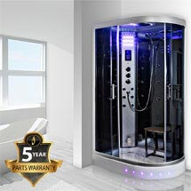 Insignia - 1200mm Steam Shower Cabin with Mirrored Backwalls - GT5000M Medium Image