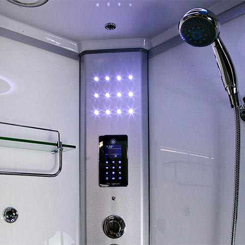 Insignia - 1200mm Steam Shower Cabin with White Backwalls - GT5000W profile large image view 2