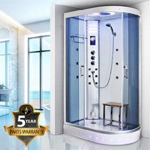 Insignia - 1200mm Steam Shower Cabin with White Backwalls - GT5000W Medium Image
